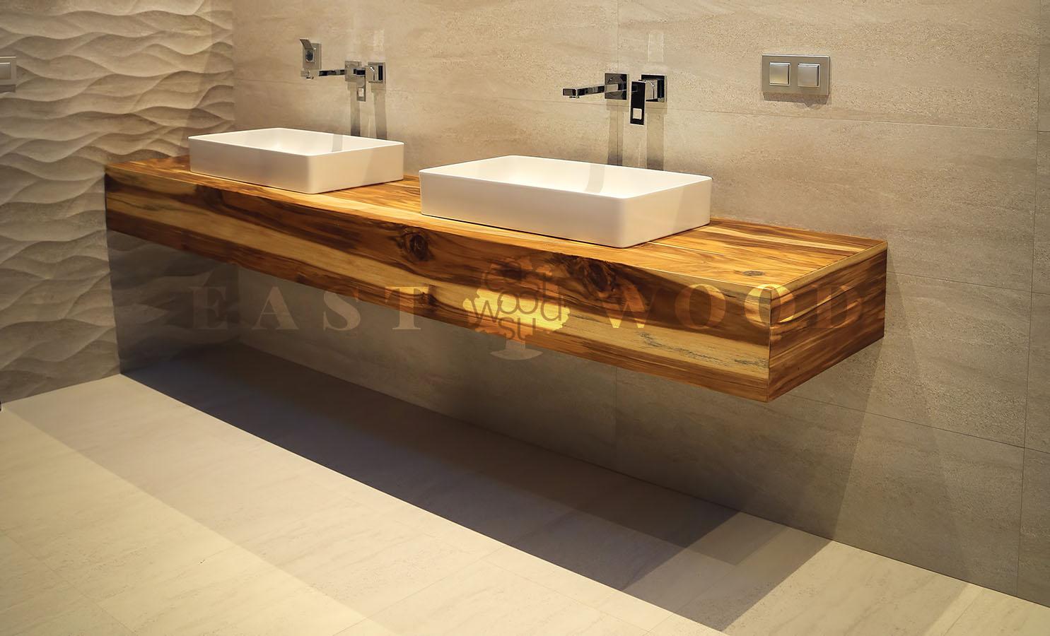 Столешница в ванну из дерева столешница ламинированная пластиком гранит черный
